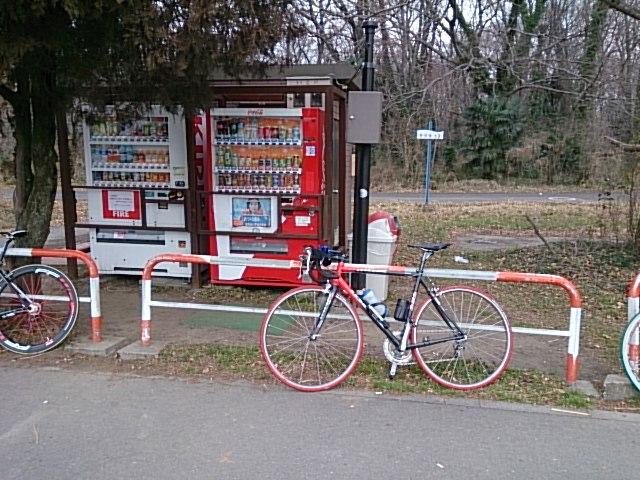 秋ヶ瀬公園でトイレ休憩