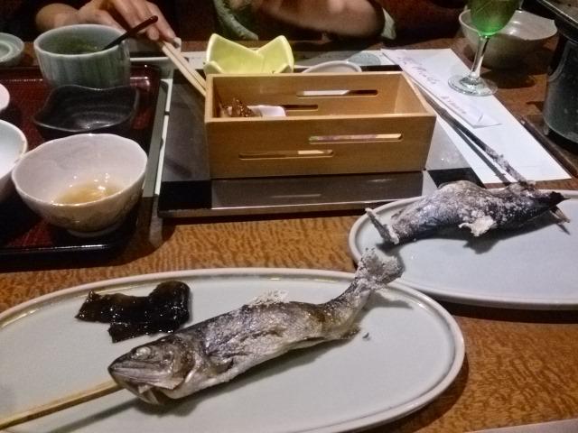 下部ホテルの夕食